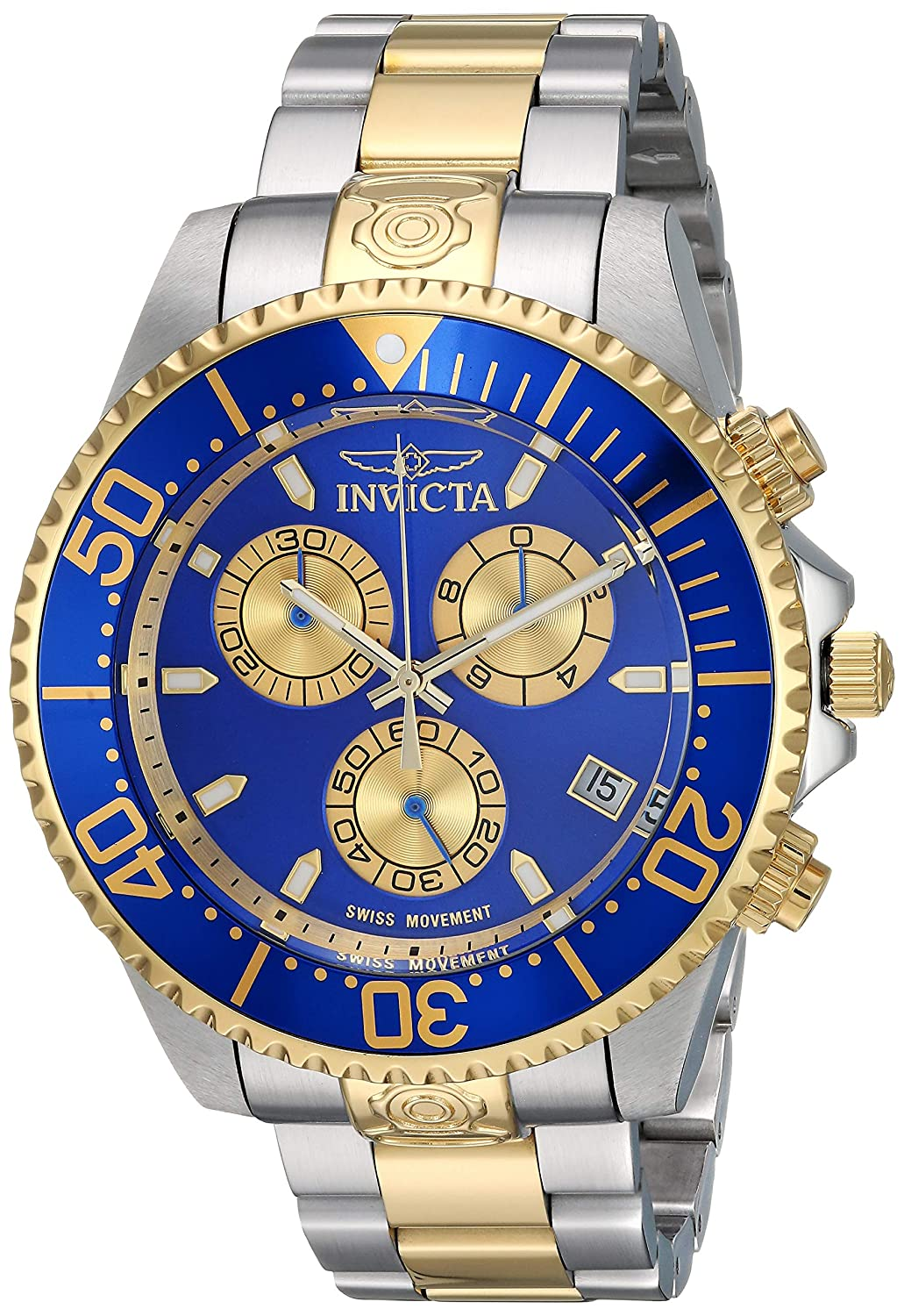 Invicta Men s Pro Diver Quartz Diving Watch with Stainless-Steel Strap, Two Tone, 21.7 Model 26851