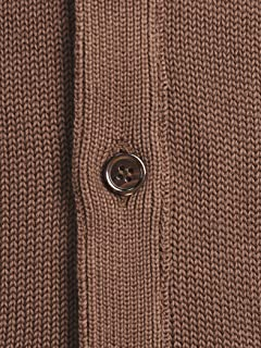 Cotton V-neck Cardigan 1113-343-4155: Brown