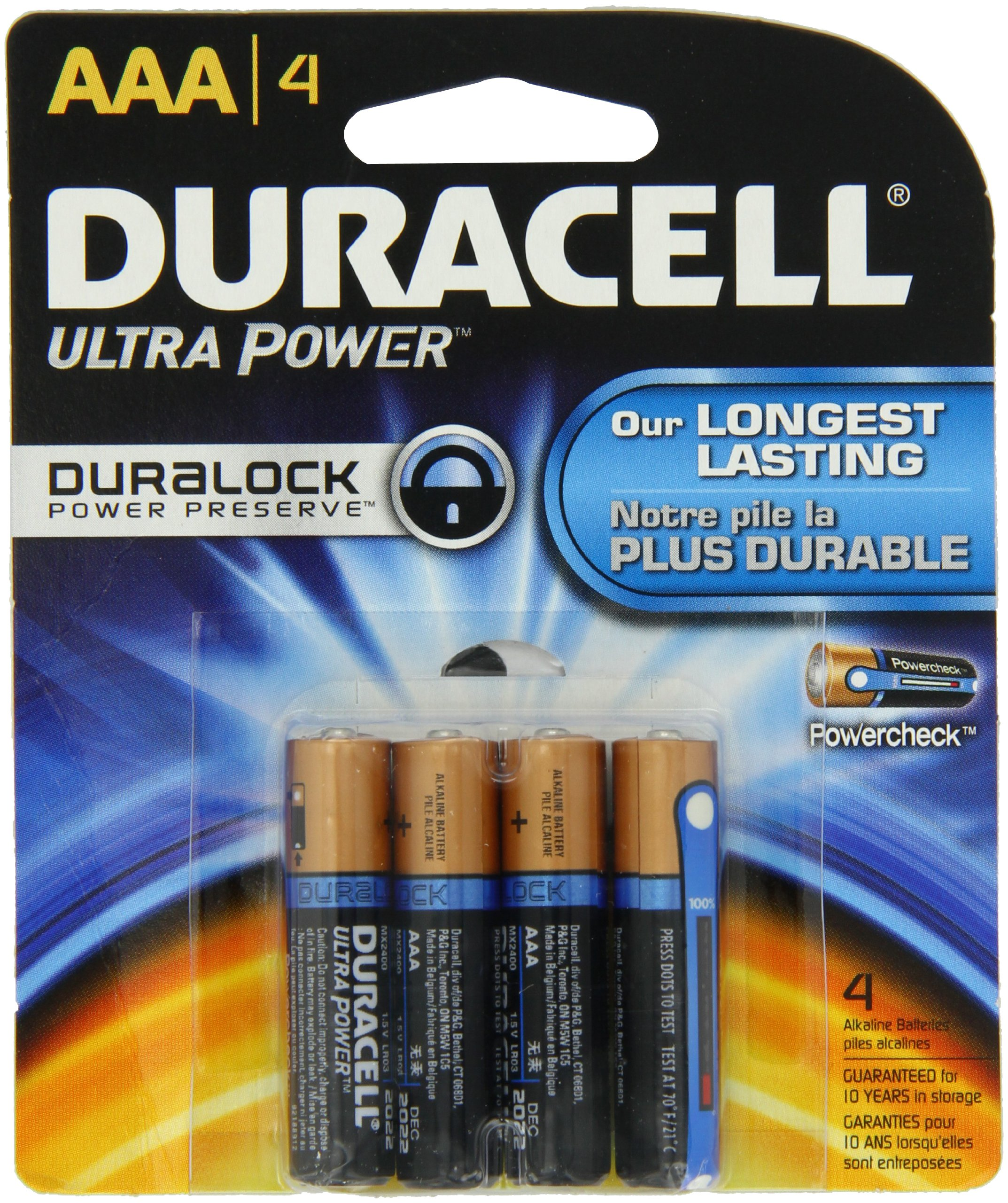 Duracell Ultra Power AAA Batteries 4 Count
