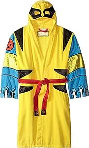 Robe Factory Men's Marvel Wolverine Cotton Hooded Bathrobe, Yellow, OS