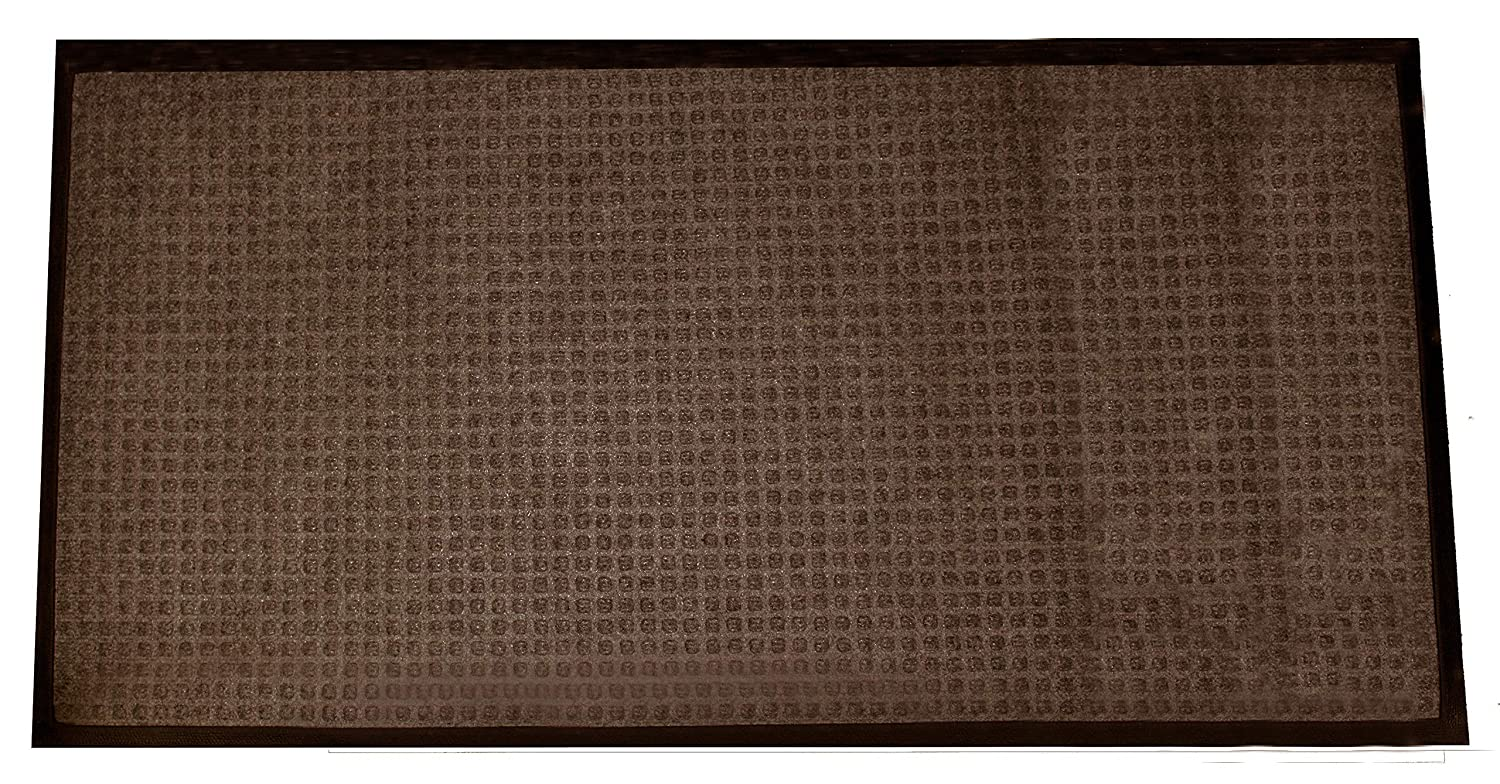 Durable Stop-N-Dry Indoor Rubber Backed Carpet Entrance Mat, 3' x 5', Blue