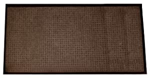 Durable Corporation 630S23BN Stop-N-Dry Indoor Rubber Backed Carpet Entrance Mat, 2' x 3', Brown