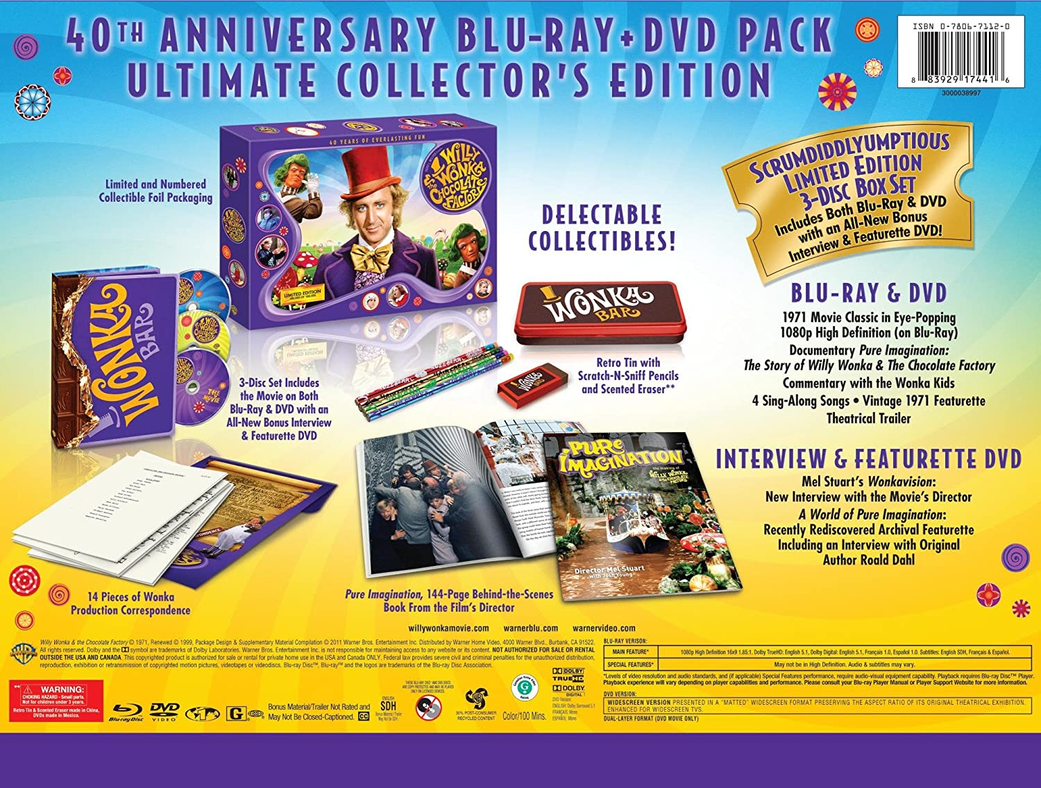 Willy Wonka & Chocolate Factory Blu-ray 1971 US Import: Amazon.co ...