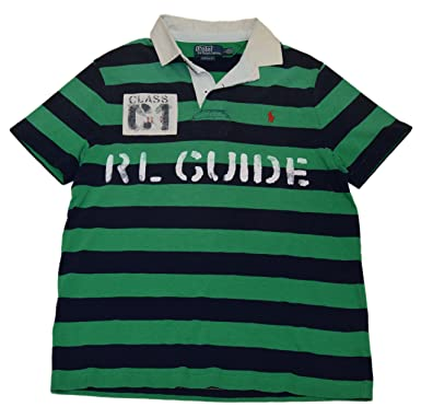 1f8b41d6c Image Unavailable. Image not available for. Color  Ralph Lauren Polo Men  Custom Fit Rugby Rafting Patch Shirt ...