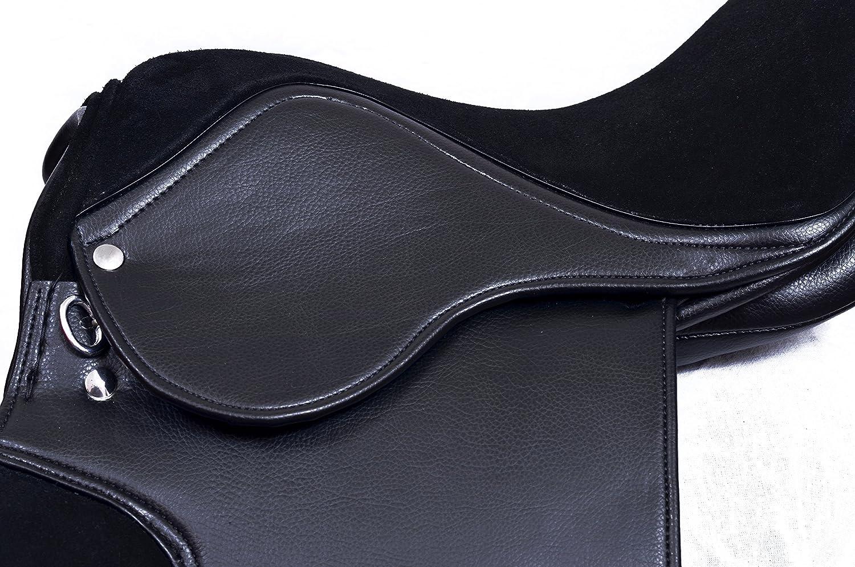 Selle /à usage g/én/éral synth/étique avec si/ège en daim de qualit/é sup/érieure pour Xtra Coupe Large Noir 43,2/cm