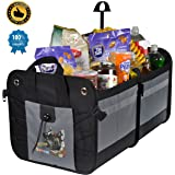 Car Trunk Organizer Premium Collapsible Storage Bag Durability Foldable Cargo Box Backseat for Automobile SUV Truck Jeep (small)