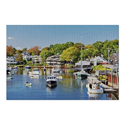 Ogunquit, Maine - Colorful Fishing Boats Docked in Perkins Cove 9011096 (Premium 1000 Piece Jigsaw Puzzle for Adults, 20x30, Made in USA!): Toys & Games