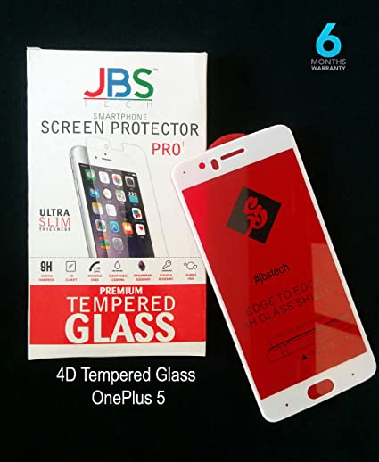 JBS Tech 4D Tempered Glass Screen Protector for OnePlus