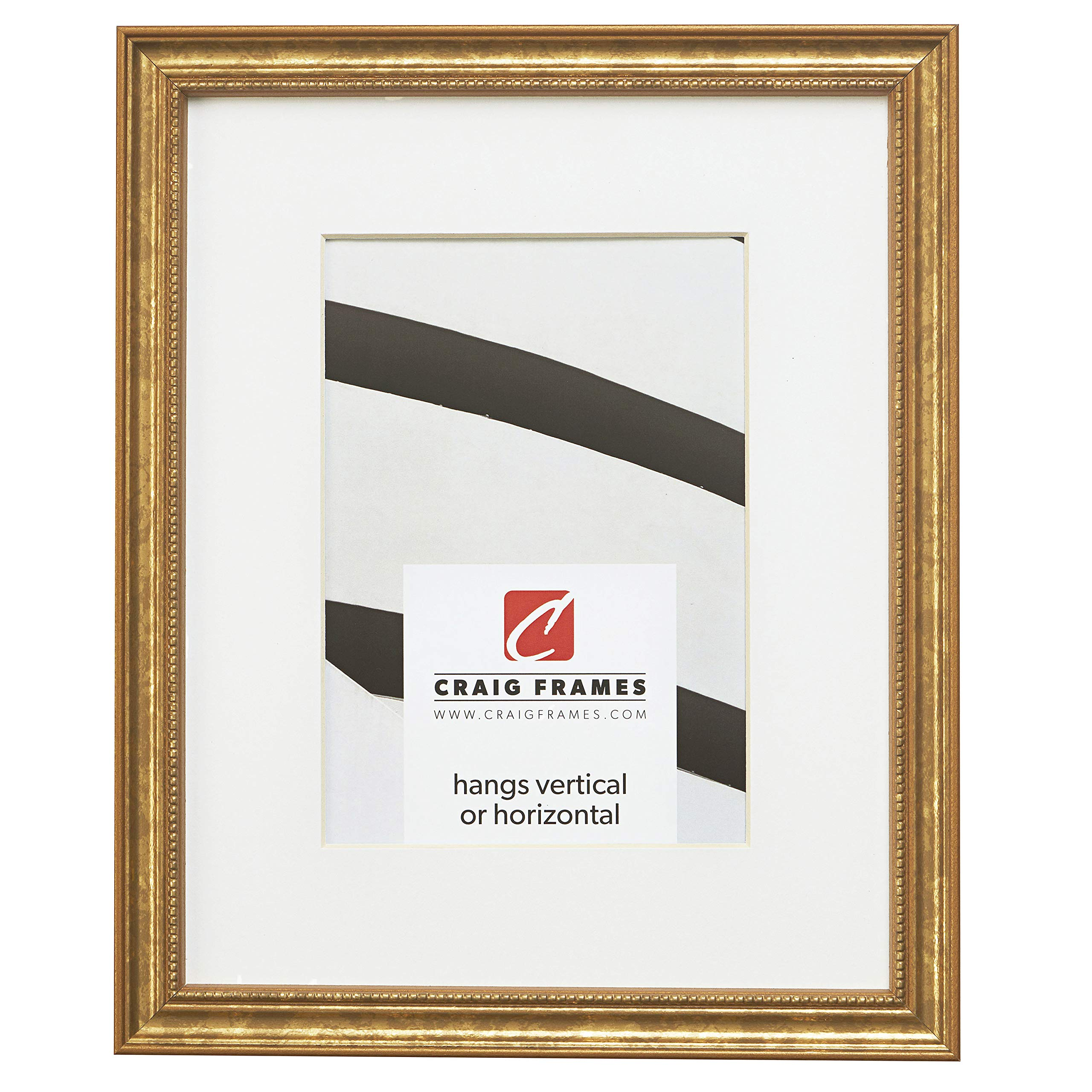 Craig Frames 314GD 20 x 24 Inch Ornate Gold Picture Frame Matted to Display a 16 x 20 Inch Photo by Craig Frames