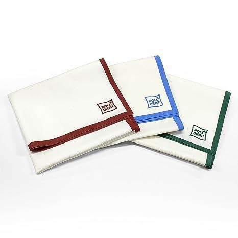 ROLL-DRAP - Paños de Cocina 40 x 64 cm. Blanco Cenefa Azul (10 unidades): Amazon.es: Belleza