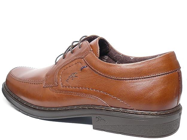 Zapatos hombre con cordones FLUCHOS - Piel color marron - 9482 - 83 (43, marron)