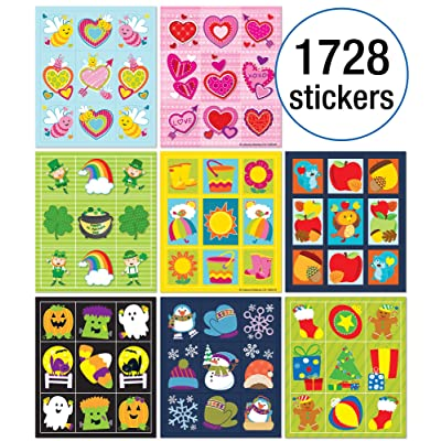 Carson-Dellosa Seasonal Prize Pack Sticker Set, Multi: Office Products
