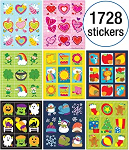 Carson-Dellosa Seasonal Prize Pack Sticker Set, Multi
