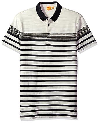 Hugo Boss Hombres 50329309 Camisa Polo - Blanco - XX-Large: Amazon ...