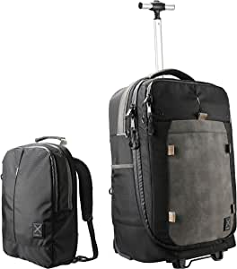 Cabin X ONE - Hybrid Hand luggage Wheeled Trolley/convertible Backpack and Day Bag. Flight approved cabin case (Onyx Black)