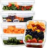 [Home Planet] Single Compartment 840ml Glass Food Container (5 Pack) | BPA-Free Snap-Lock Lids | ​Freezer, Oven, Microwave & Dishwasher Safe | Perfect for use as Storage Dish/Meal Prep/Lunch/Bento box
