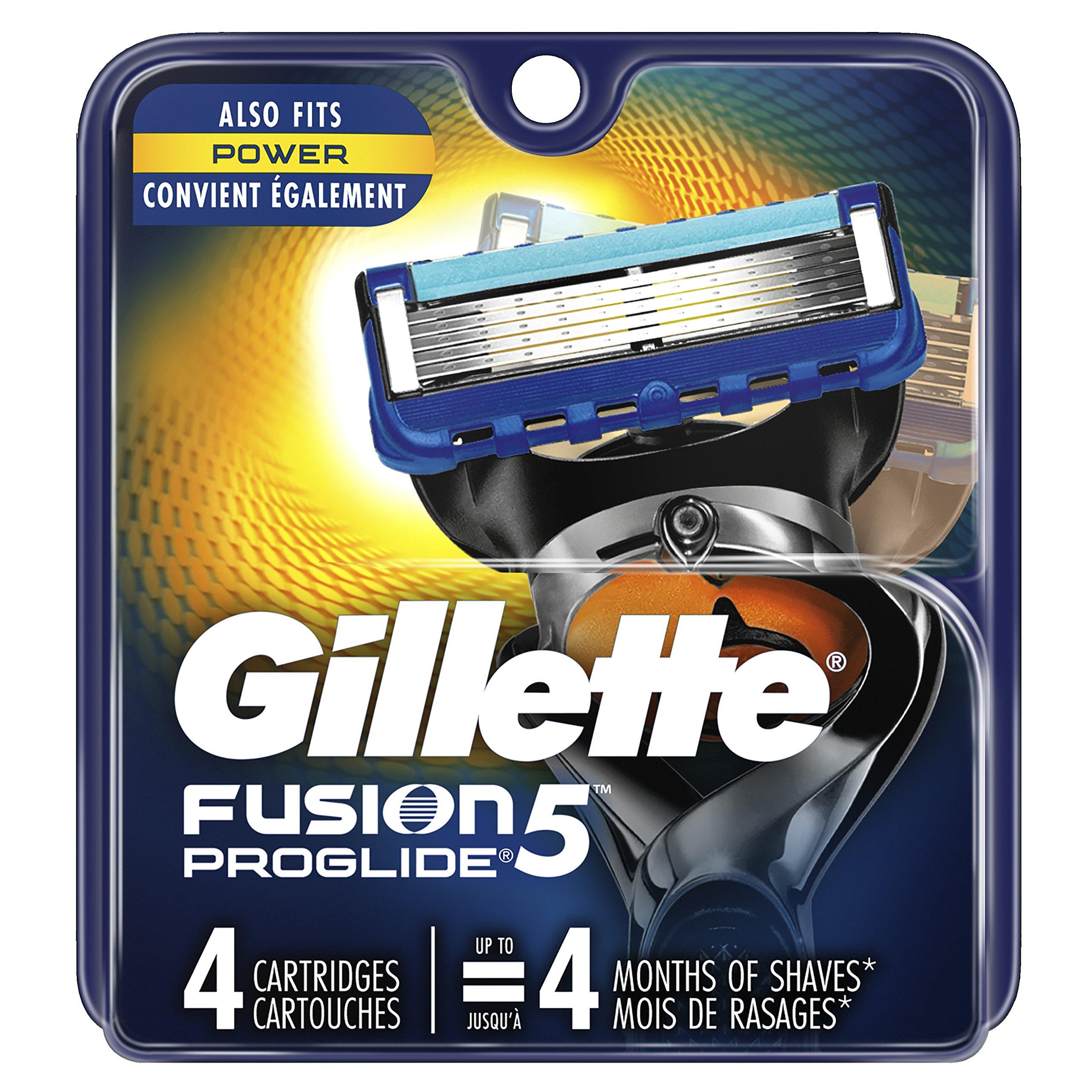 Gillette Fusion5 ProGlide Men's Razor Blade Refills, 4 Count, Mens Razors / Blades