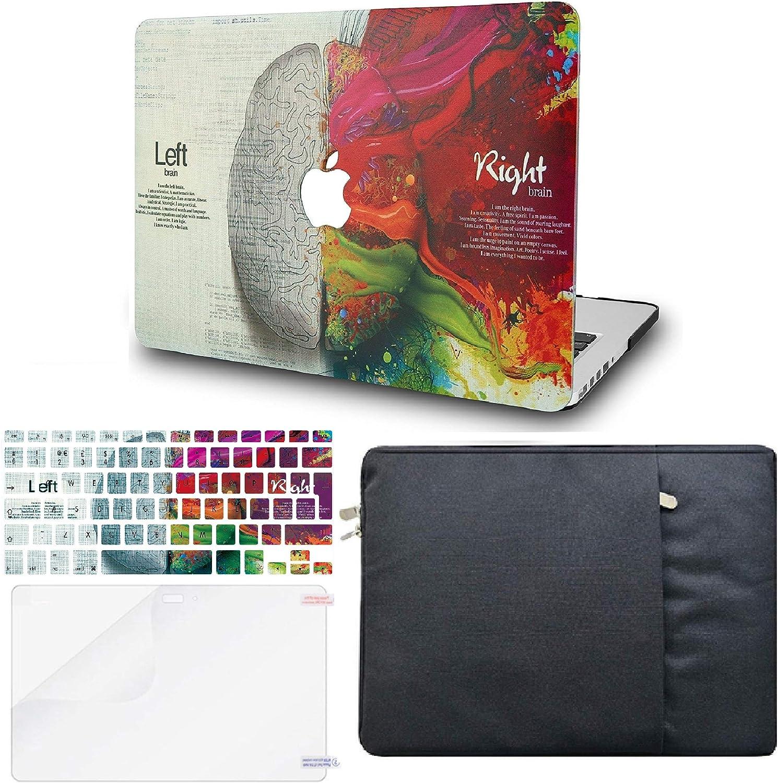 "KECC Laptop Case for MacBook 16"" (2020/2019) w/Keyboard Cover + Sleeve + Screen Protector (4 in 1 Bundle) Plastic Hard Shell Case A2141 (Brain)"