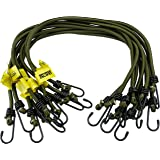 "Elasticated Bungees Cords Bungee Military Army Basha Straps Variety Pack - 1 x 12"", 1 x 18"" + 1 x 30"""