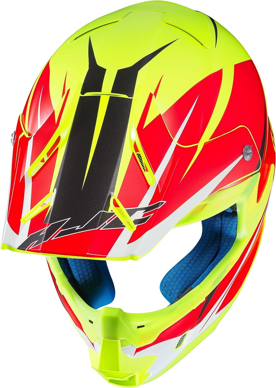 HJC Helmets Unisex-Adult Off-Road Style Motorcycle Helmet FG-MX Axis MC-3HSF Neon Green//Orange Small