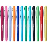 AmazonBasics Felt Tip Pens, 12 Assorted Colors