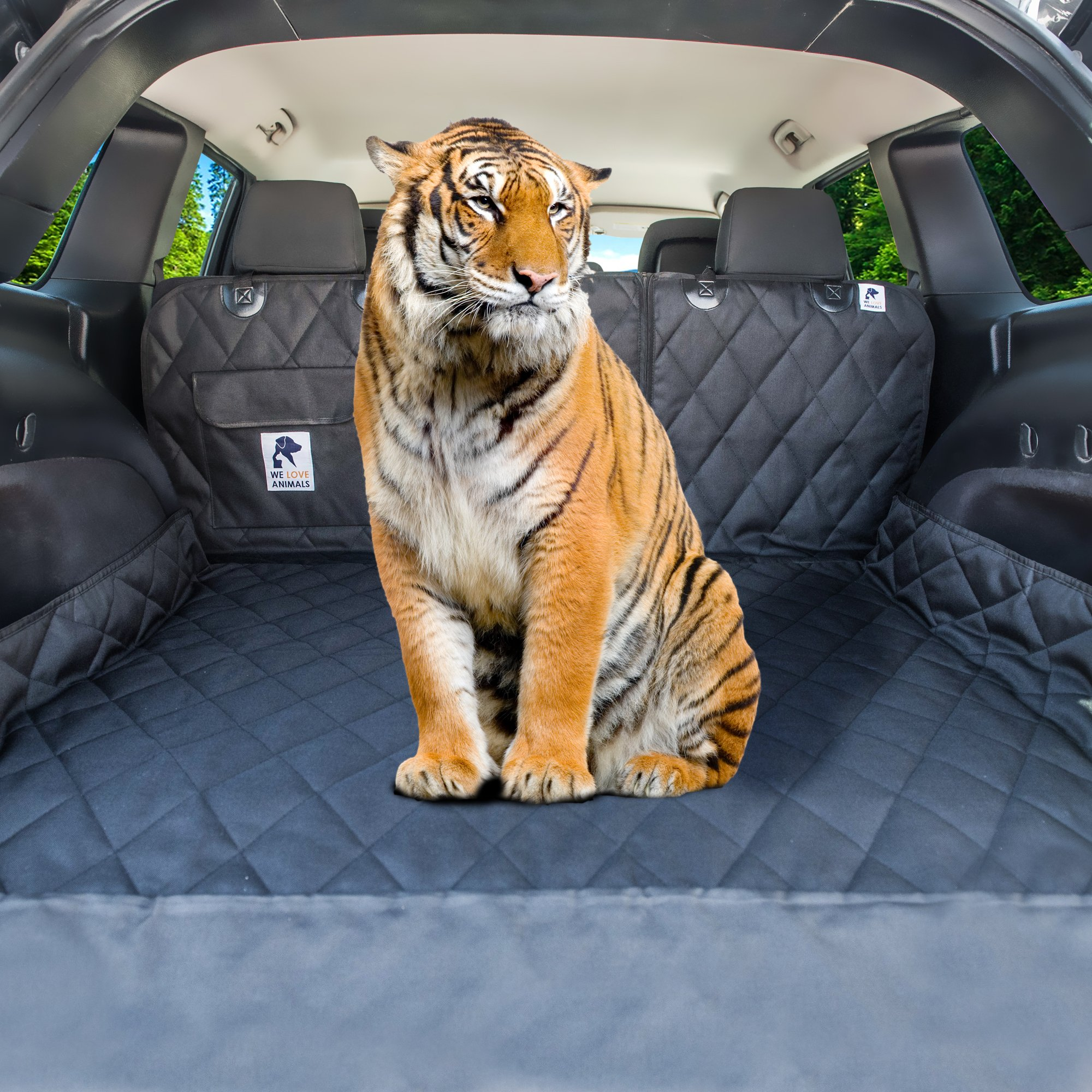 Dog Cargo Liner for SUV, Van, Truck & Jeep - Waterproof, Machine Washable, Nonslip Pet Seat Cover with Bumper Flap will keep your vehicle as clean as ever - XL, Universal Fit - BONUS Carry Bag by WE LOVE ANIMALS (Image #9)