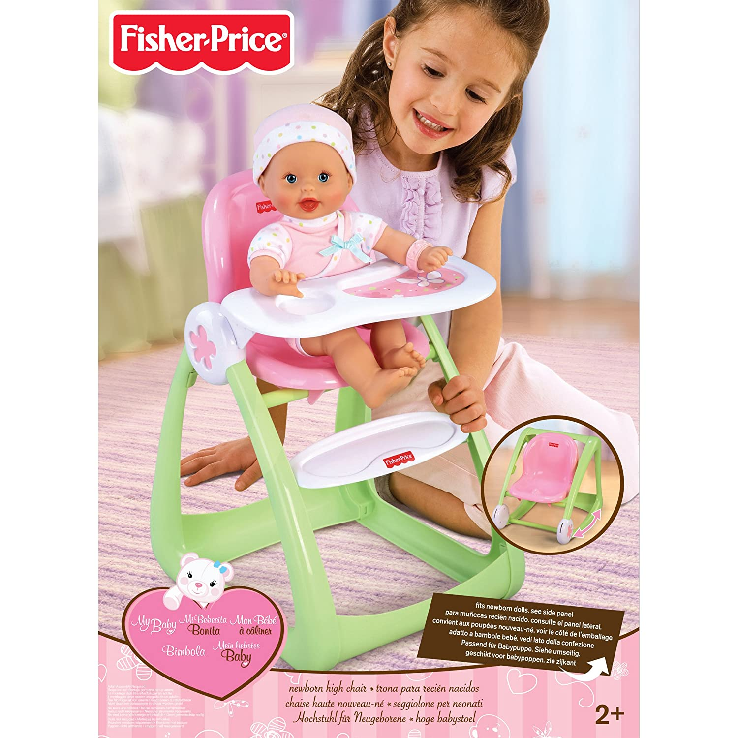 Amazon.com: Little Mommy Newborn High Chair: Toys & Games