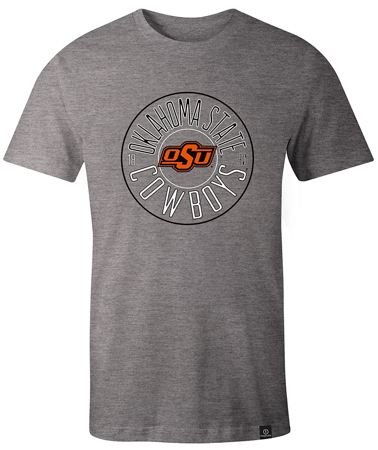 XX-Large,HeatherGrey NCAA Oklahoma State Cowboys Adult NCAA Circles Image One Everyday Short sleeve T-Shirt