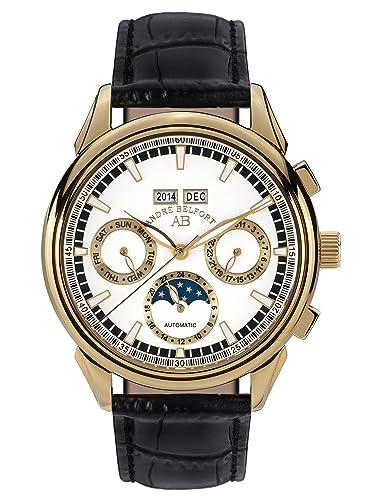 André Belfort 410216 - Reloj para Hombres, Correa de Cuero: Amazon.es: Relojes