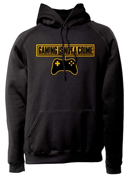 LaMAGLIERIA Sudadera Unisex Gaming is Not a Crime - Sudadera con Capucha Gamers Gaming Nerd: Amazon.es: Ropa y accesorios