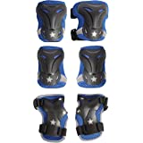 High Bounce Knee Pads and Elbow Pads with Wrist Guards Protective Gear Set for Biking, Riding, Cycling and Multi Sports Safety Protection: Scooter, Skateboard, Bicycle, Rollerblades