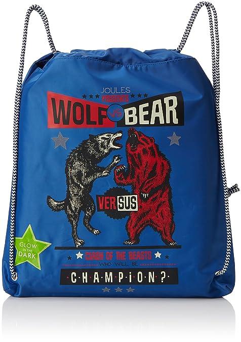 Joules - Active, Carteras Niños, Blue (Bear Vs Wolf), 2x38x35.5 cm (W x H L): Amazon.es: Zapatos y complementos