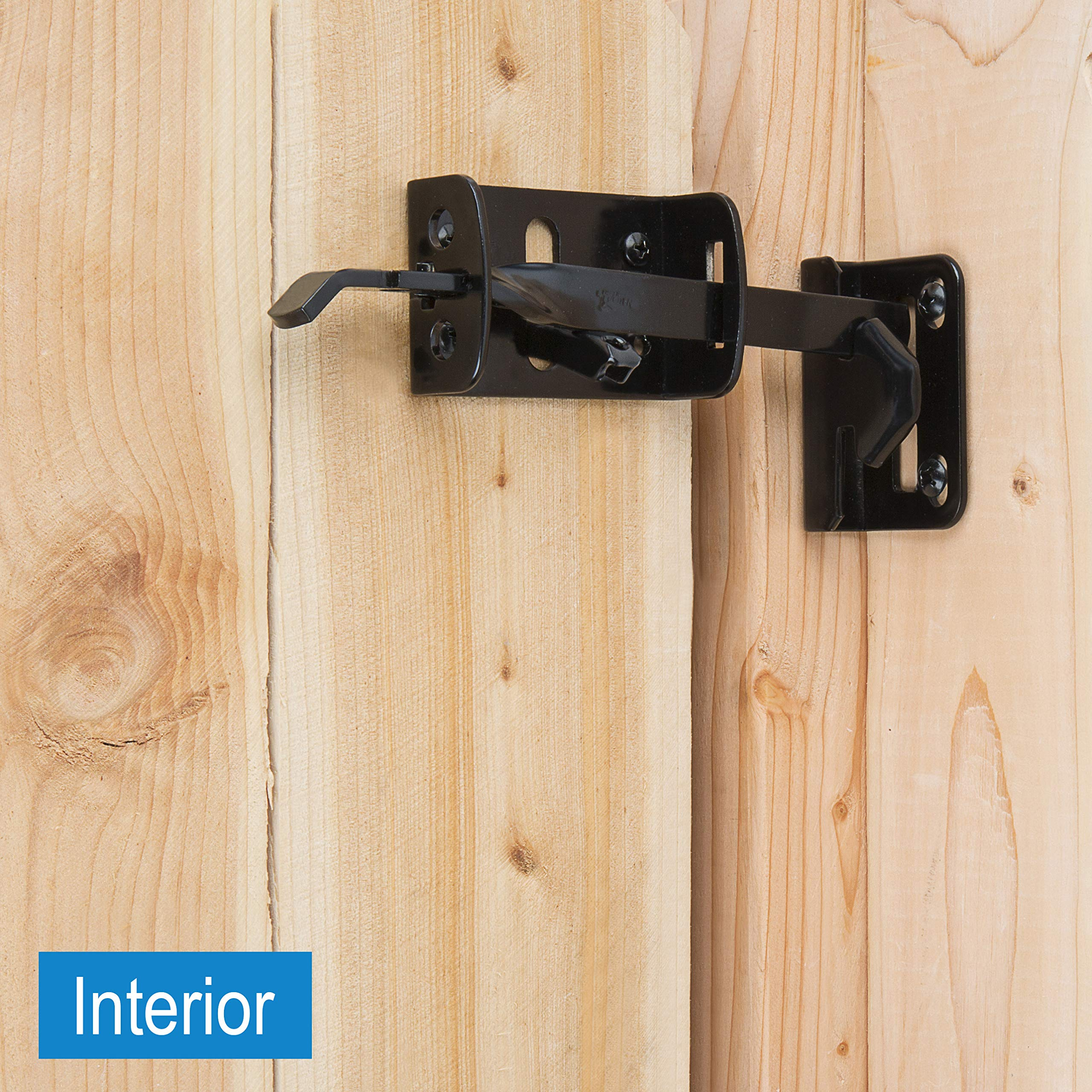 Gate Thumb Latch N109-050 by National Hardware in Black by National Hardware (Image #3)