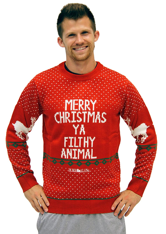 Amazon.com: Ugly Christmas Sweater Home Alone Merry Christmas Ya ...