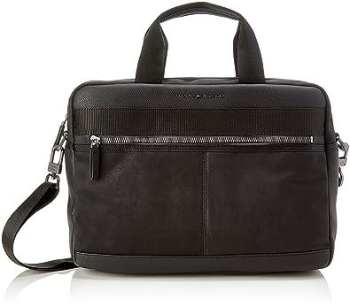 Tommy Hilfiger Herren Playful Novelty Computer Bag Laptop Tasche, Schwarz  (Black), 9x30x40
