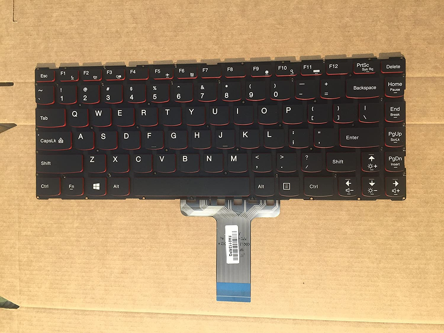 New US Laptop Keyboard for Lenovo Y40-70 red