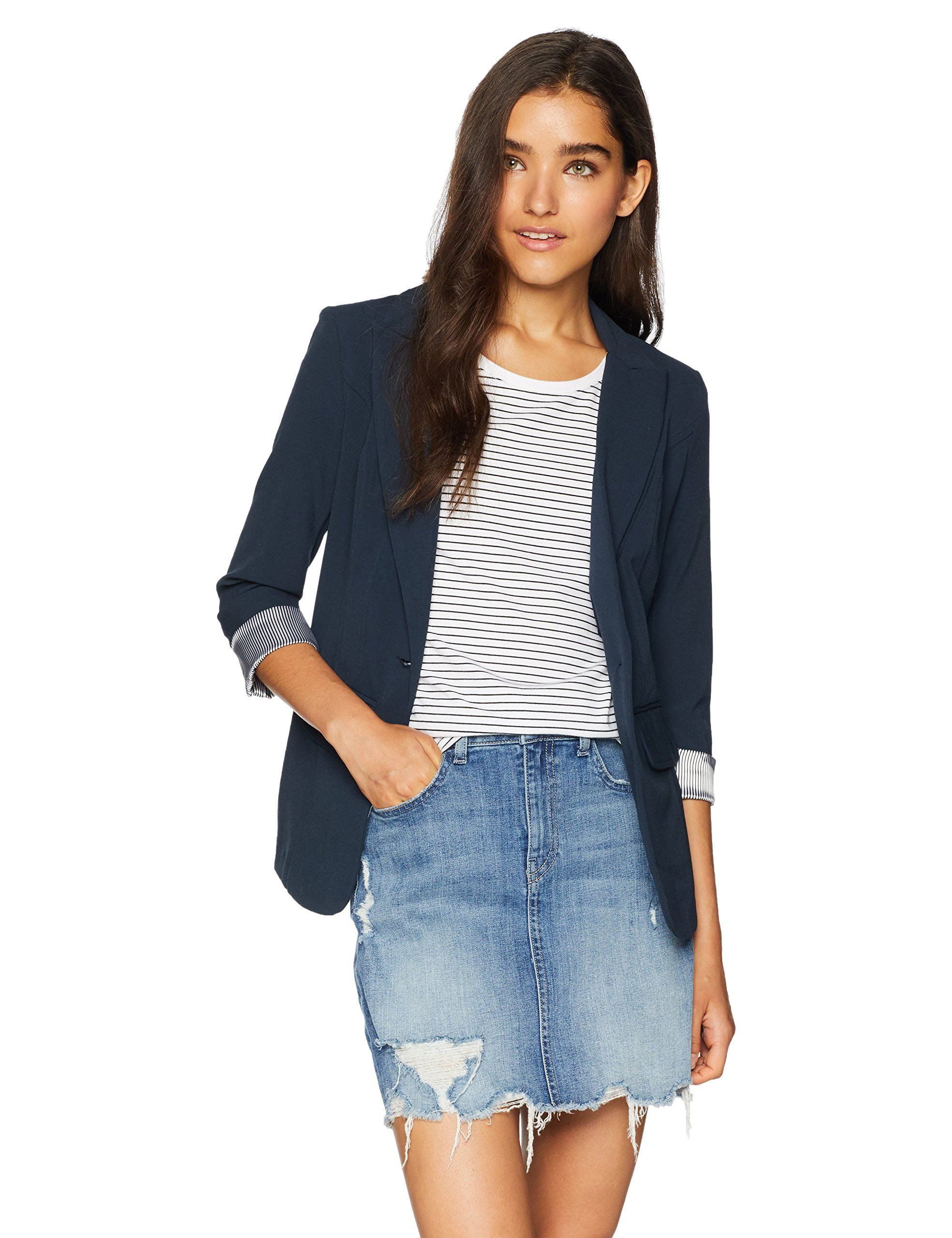A. Byer Junior's One-Button Blazer, Navy, M
