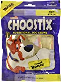 Choostix Pressed Dog Bone, Mini (3-inch x 6 Pieces)