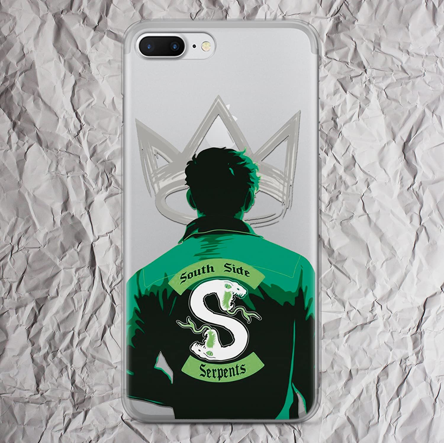 Riverdale Phone Case Jughead Jones Southside Serpents Jacket Shirt sweatshirt patch hoodie tshirt gifts print iPhone 7 8 6 6s plus X case for iphone 5 5s se 5se 4 4s clear silicone or plastic cover