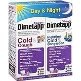 Dimetapp Children's Cold & Cough Antihistamine, Cough Suppressant, & Decongestant - Day & Night (Grape Flavor Liquid, 2-4 fl. oz. Bottles)