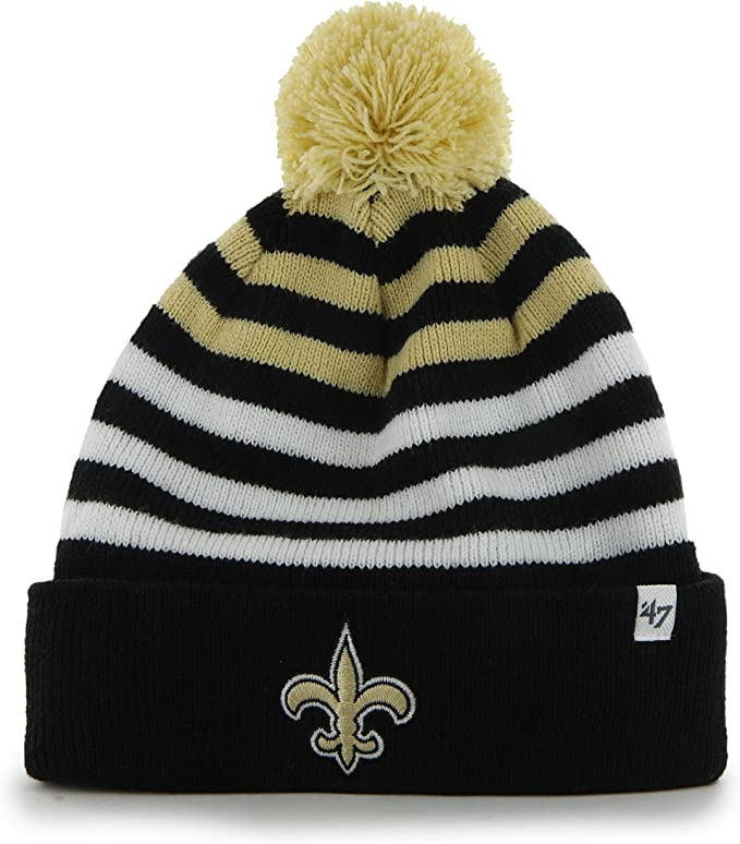 good service newest collection best website Amazon.com : '47 Youth Cuff Knit New Orleans Saints Beanie : Clothing