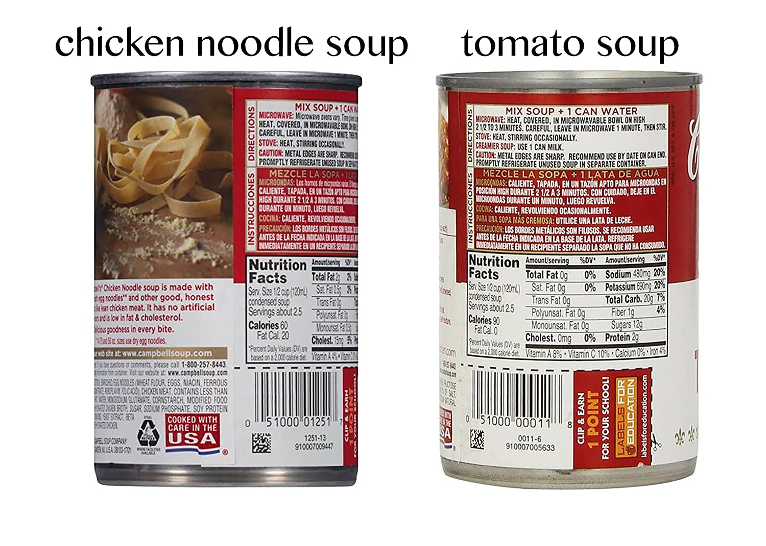 Amazon.com : Campbells Chicken Noodle Soup x 2 Cans, and ...