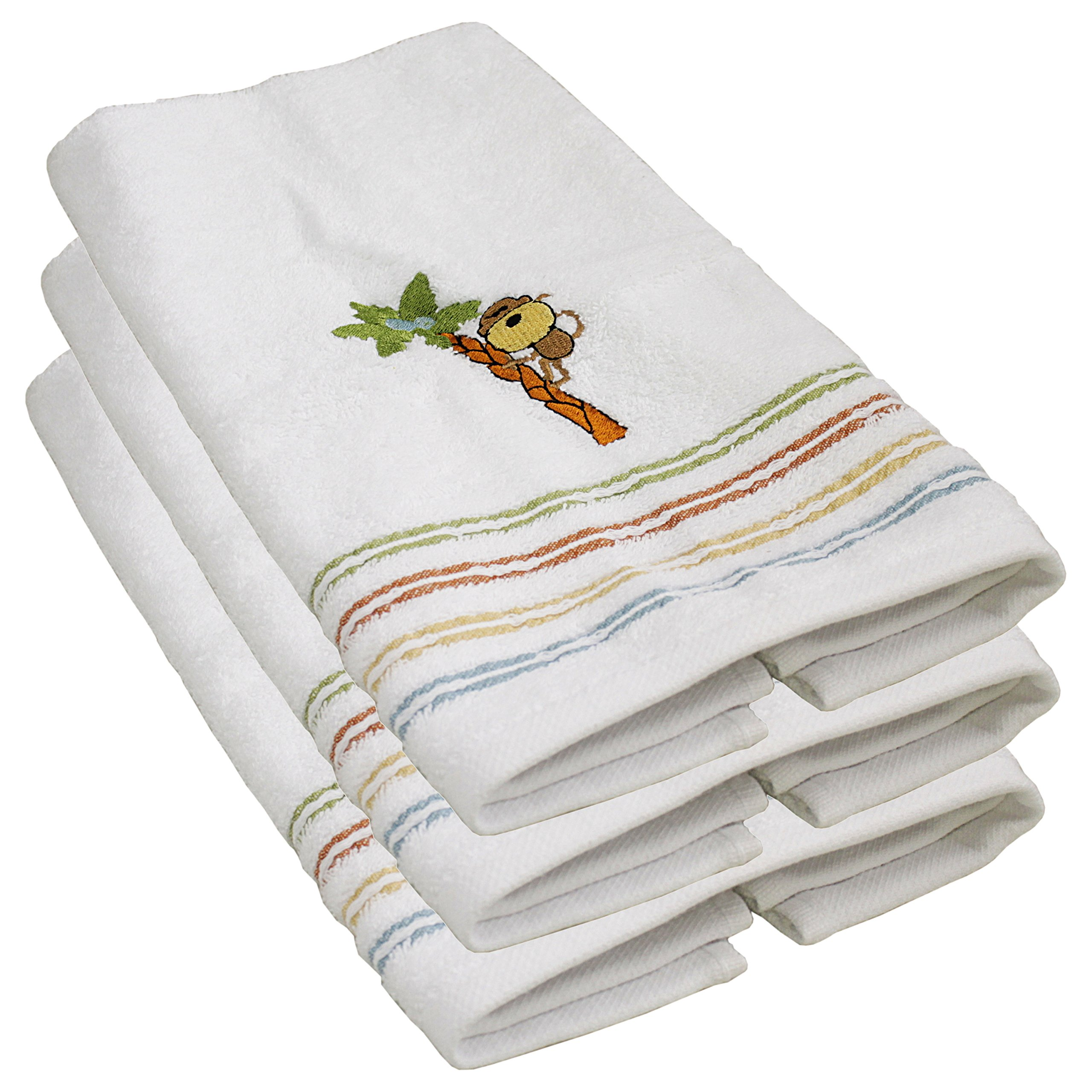 Saturday Knight Limited Safari Monkey 100% Cotton Hand Towel, Set of 3