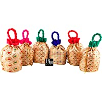 Bombay Haat Women's Off-White Pouches - Set of 6