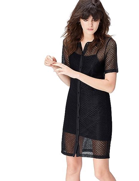 FIND Vestito Scamiciato in Pizzo Donna  Amazon.it  Abbigliamento 948519b9b3e