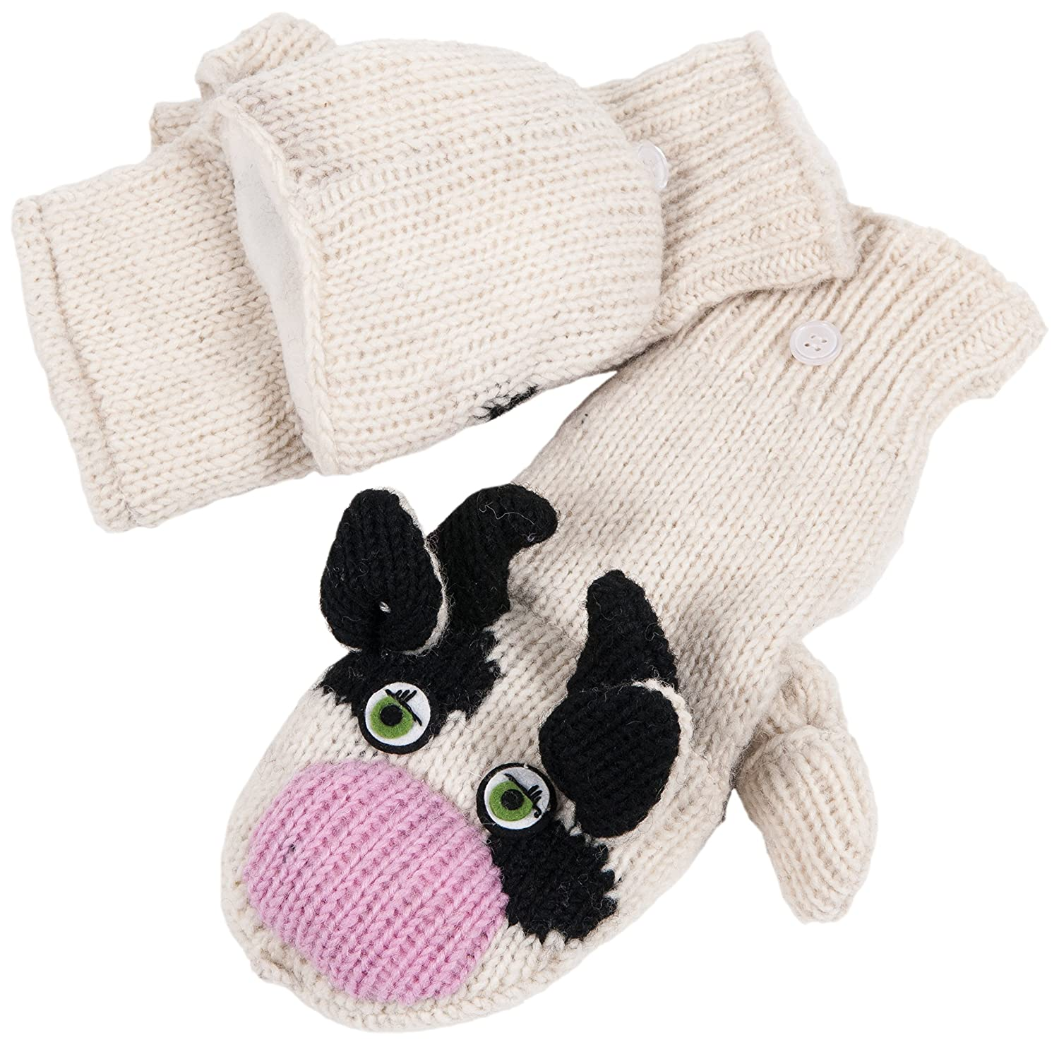 Nirvanna Designs MTCOWC Cow Cover Mittens, White, Adult Nirvanna Designs Inc