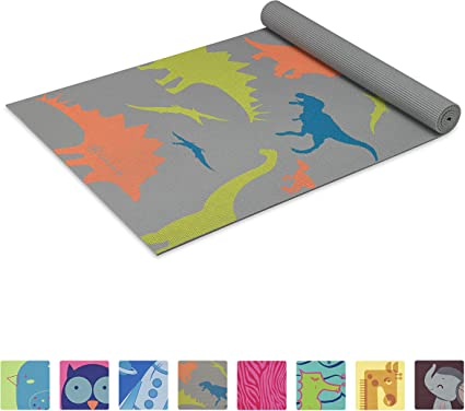 Amazon Com Gaiam Kids Yoga Mat Exercise Mat Yoga For Kids With Fun Prints Playtime For Babies Active Calm Toddlers And Young Children Dino Zone 3mm Sports Outdoors