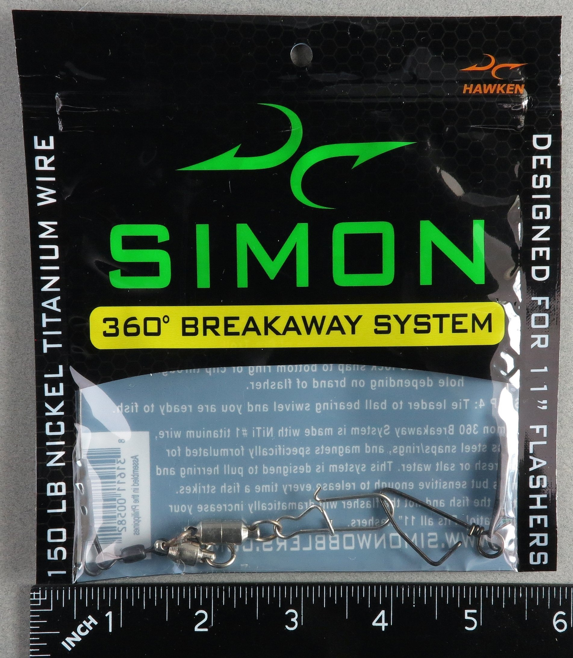 Simon 360 Breakaway System for 11'' Flashers - Flasher Release SW360BRYWY by Hawken Tackle