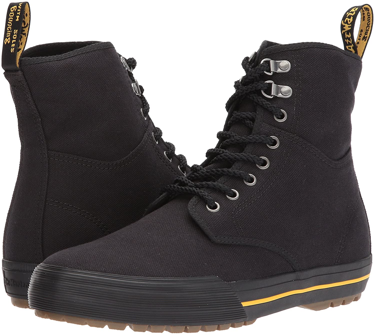 Dr. Martens Winsted Black Canvas Fashion Boot B01N2Z2CWC 7 Medium UK (US Women's 9, US Mens 8 US)|Black