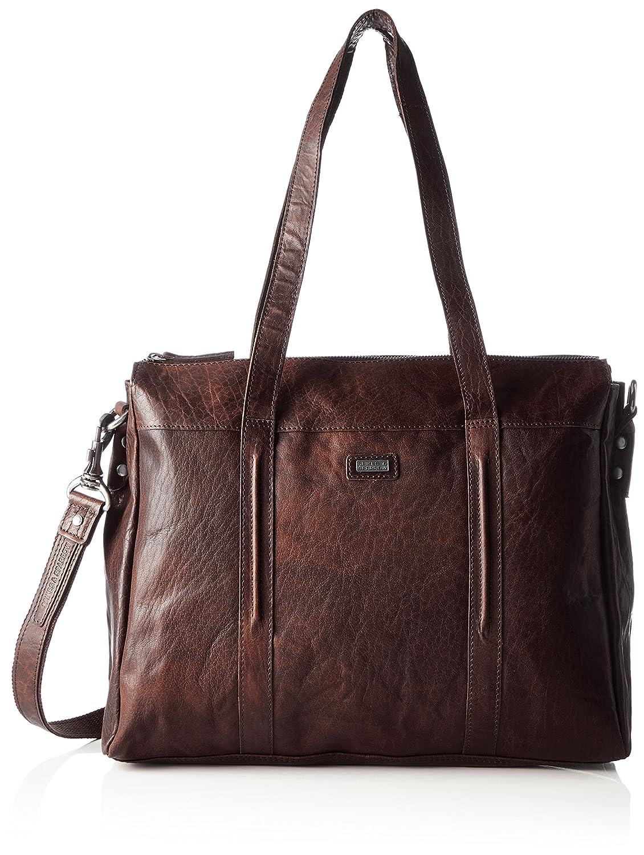 Spikes & Sparrow - Zip Bag, Carteras de mano con asa Mujer, Braun (Brandy), 9x23x26 cm (B x H T): Amazon.es: Zapatos y complementos